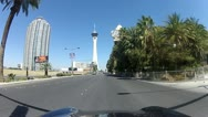 POV drive through Las Vegas V1 - HD Stock Footage