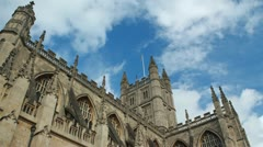 Bath Abbey Timelapse Zoom In Stock Footage