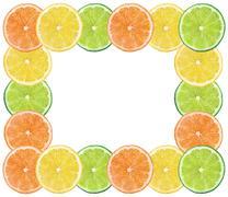 Stock Photo of fresh citrus fruits background