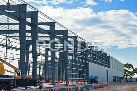 Stock photo of industrial construction site