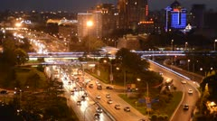 Ring Road Night Timelapse 25fps Stock Footage