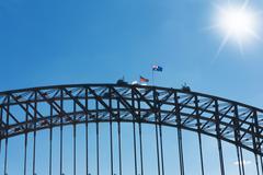 sydney harbour bridge - stock photo