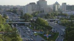 Ring Road Beijing timelapse 25fps Stock Footage