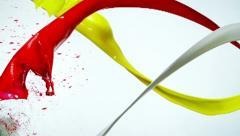 Paint splash, Slow Motion Stock Footage