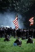 Union line preparing to fire Stock Photos