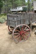 Old wagon, 19th century homestead Stock Photos