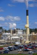 Pulp and paper mill Stock Photos