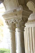detail, ornate corinthian capitals .. - stock photo