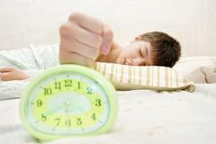 keep silence - let me sleep - stock photo