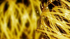 Golden Light Streaks - Abstract Background 76 (HD) Stock Footage
