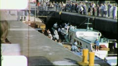 BALLARD LOCKS Canal Boats Seattle 1960s (Vintage Film Amateur Home Movie) 4454 Stock Footage