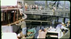 BALLARD LOCKS Opening Seattle 1960s (Vintage Film Amateur Home Movie) 4455 - stock footage