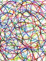 Abstract colorful felt tip pen scribbles close up. Stock Illustration