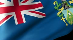 Pitcairn Islands Flag Waving Stock Footage