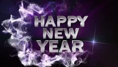 HAPPY NEW YEAR Text in Particle Blue 1 - HD1080 Stock Footage