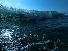 Ocean Waves HS01 Slow Motion 240fps Underwawter - stock footage