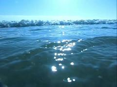 Ocean Waves HS02 Slow Motion 240fps Underwawter - stock footage