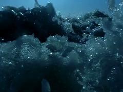 Ocean Waves HS06 Slow Motion 240fps Underwawter Stock Footage