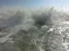Ocean Waves HS08 Slow Motion 240fps Underwawter - stock footage