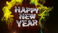Stock Video Footage of HAPPY NEW YEAR Text in Particle Red 2 - HD1080