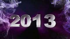 2013 Text in Particle Blue 2 - HD1080 - stock footage