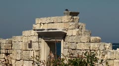 Stock Video Footage of Ruins of the Chersonesos Greek city, Sevastopol (Crimea)
