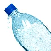 Bottle of mineral water Stock Photos