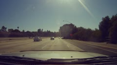 Travel Pasadena Burbank on Foothill and Ventura Freeway - 1 Stock Footage