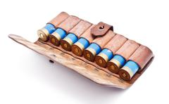Vintage ammunition belt Stock Photos