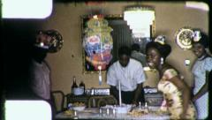 African American Black Family Birthday Party 1960s Vintage Film Home Movie 4463 Stock Footage