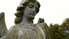 Angel statue, with camera move. - stock footage