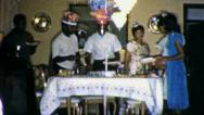 African American Black Family Birthday Party 1960s Vintage Film Home Movie 4464 Stock Footage