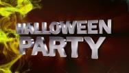 Stock Video Footage of HALLOWEEN PARTY Text in Particle Red 2 - HD1080