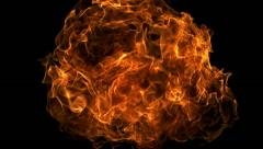 Fire ball explosion, Slow Motion Stock Footage