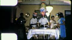 African American Black Family Birthday Party 196os Vintage Film Home Movie 4465 Stock Footage