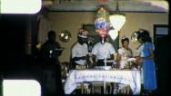 Stock Video Footage of African American Family Birthday Party 1965 (Vintage Film Old Home Movie) 4465