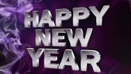 Stock Video Footage of HAPPY NEW YEAR Text in Particle Blue 2 - HD1080