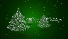 Happy Holidays Green - stock footage