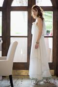 Bride in hall Stock Photos