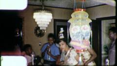 Afrikkalainen American Family Birthday Party 1965 (vintage Film Old Home Movie) Arkistovideo