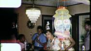 Stock Video Footage of African American Black Family Birthday Party 1960s Vintage Film Home Movie 4461