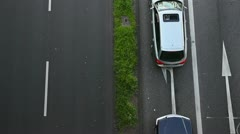 Cars waiting in lane Stock Footage