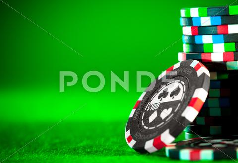 Stock photo of gambling chips