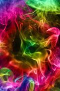 Multi-coloured smoke. background. Stock Illustration