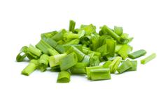 Fresh chopped leek Stock Photos
