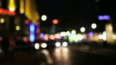 city lights at night in berlin - stock footage