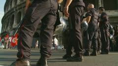 Carabinieri line up, Rome Stock Footage