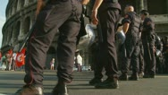 Stock Video Footage of Carabinieri line up, Rome