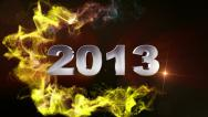 2013 Text in Particle Red 1 - HD1080 Stock Footage