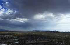 Approaching Storm Clouds over Tucson Arizona - stock photo